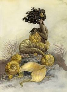 Sea Snail Mermaid by Renee Nault